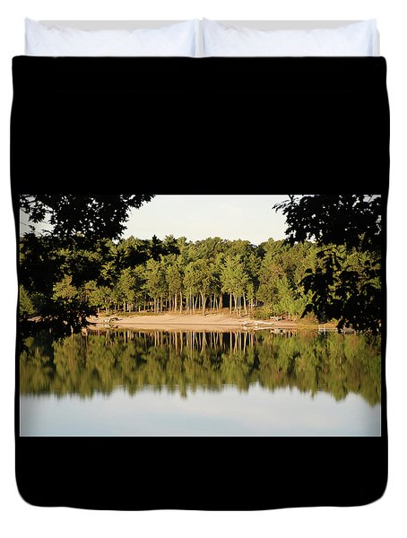 Crystal Lake In Whitehall Mi Duvet Cover
