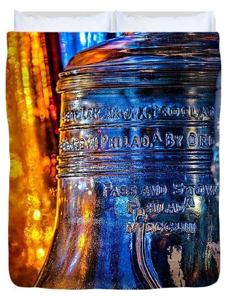 Crystal Liberty Bell Duvet Cover