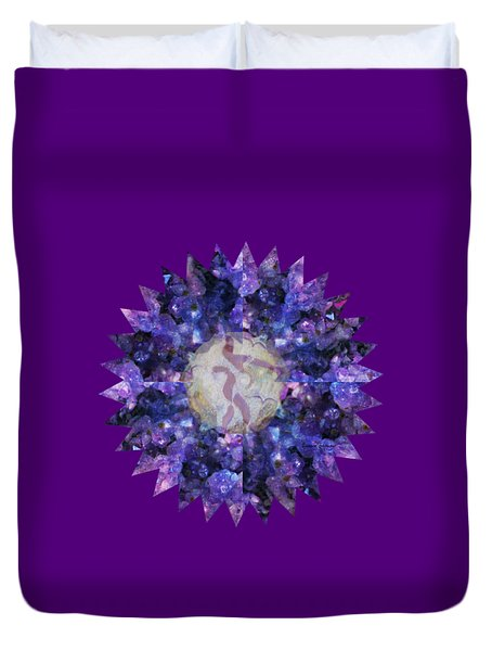 Crystal Magic Mandala Duvet Cover by Leanne Seymour