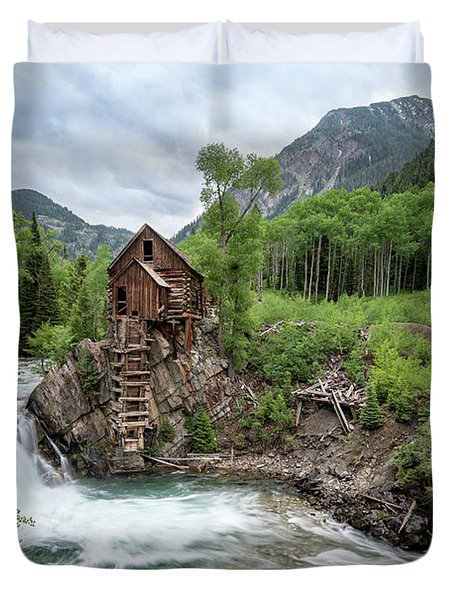 Crystal Mill Colorado 4 Duvet Cover
