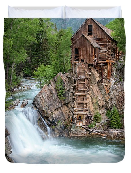 Crystal Mill Colorado Duvet Cover