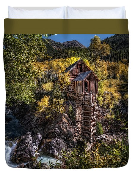 Crystal Mill Colorado Duvet Cover