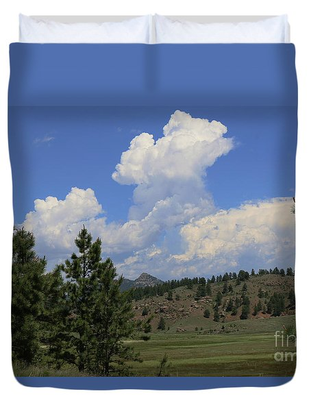 Crystal Peak Colorado Duvet Cover