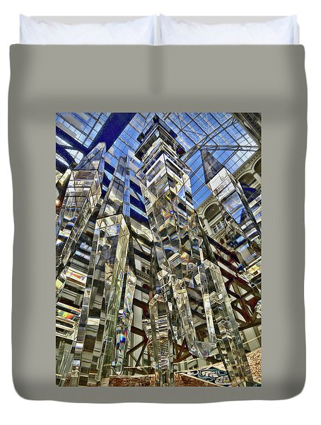 Crystal Reflection Trump Duvet Cover