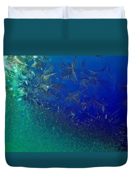 Duvet Cover featuring the photograph Crystal Sea by Danielle R T Haney