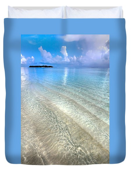 Crystal Water Of The Ocean Duvet Cover by Jenny Rainbow