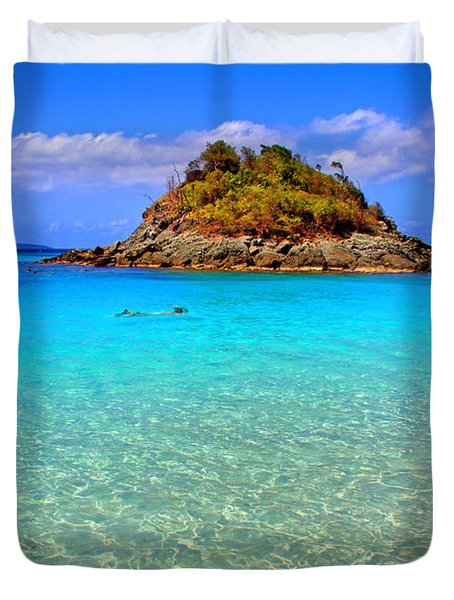 Crystal Waters Duvet Cover by Scott Mahon