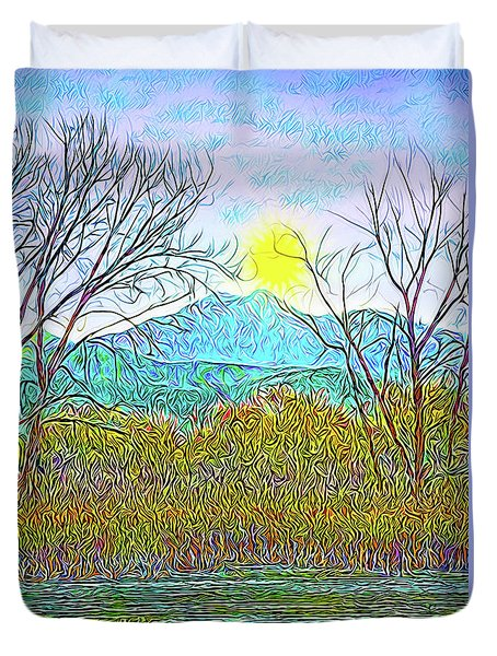 Crystalline Twilight Reflections - Boulder County Colorado Duvet Cover by Joel Bruce Wallach