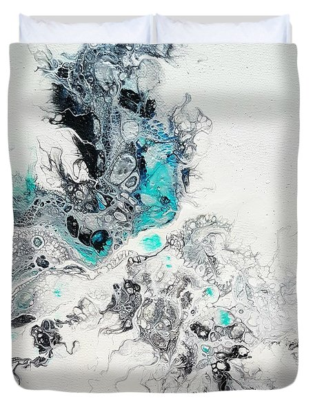 Crystals Of Ice Duvet Cover