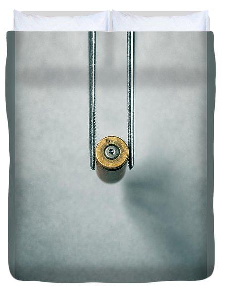 Csi Bullet Shell Evidence  Duvet Cover