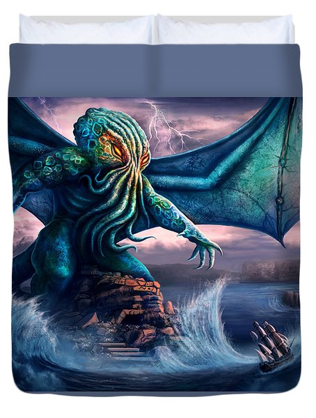 Cthulhu Duvet Cover by Anthony Christou