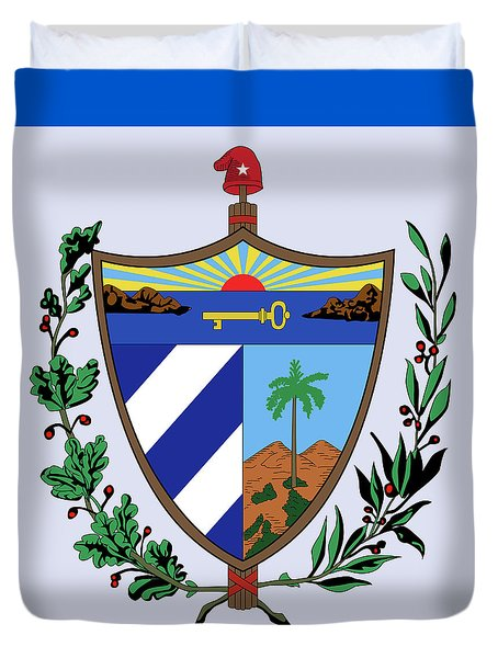 Cuba Coat Of Arms Duvet Cover by Movie Poster Prints