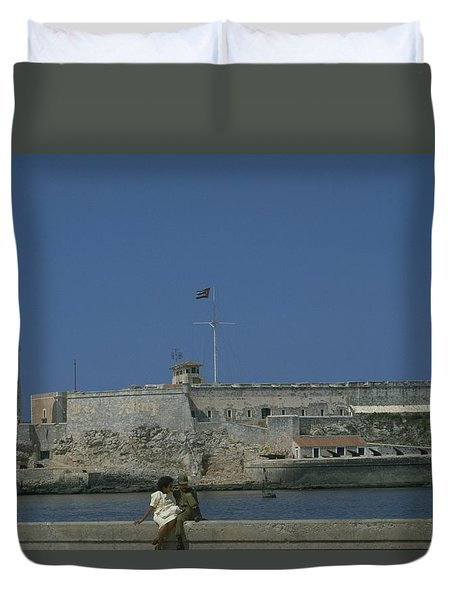 Duvet Cover featuring the photograph Cuba In The Time Of Castro by Travel Pics