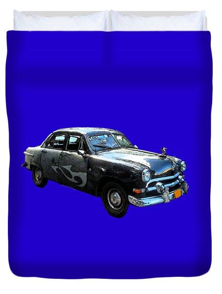 Cuba Taxi Art Duvet Cover