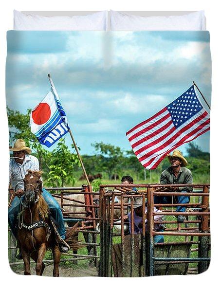 Cuban Cowboys Duvet Cover