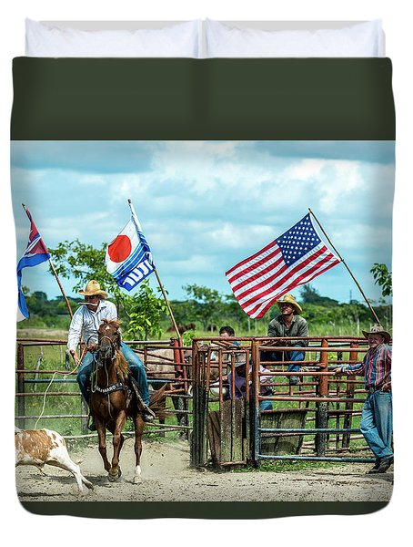 Cuban Cowboys Duvet Cover