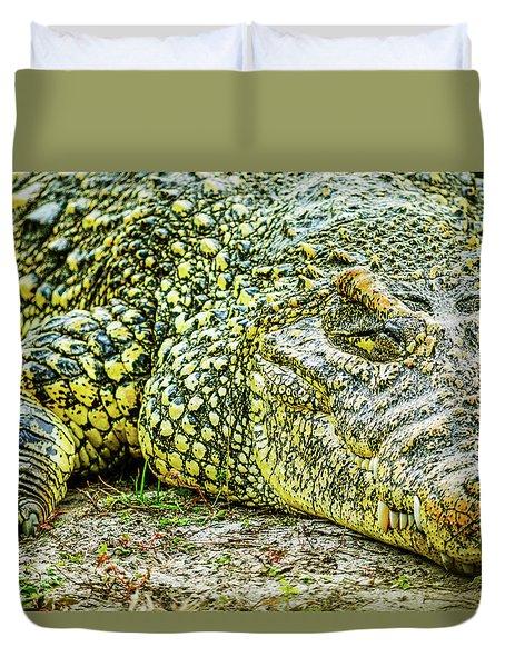 Cuban Croc Duvet Cover