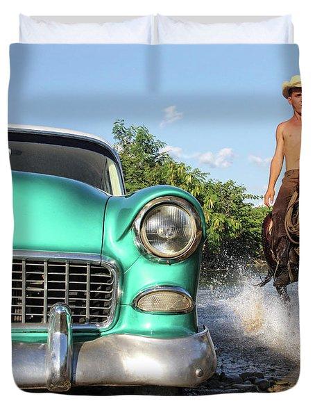 Cuban Horsepower Duvet Cover