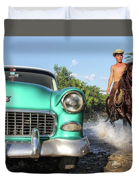 Cuban Horsepower Duvet Cover