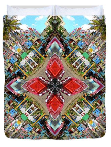 Cuban Kaleidoscope Duvet Cover