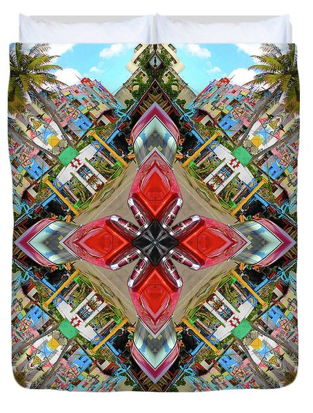 Cuban Kaleidoscope Duvet Cover