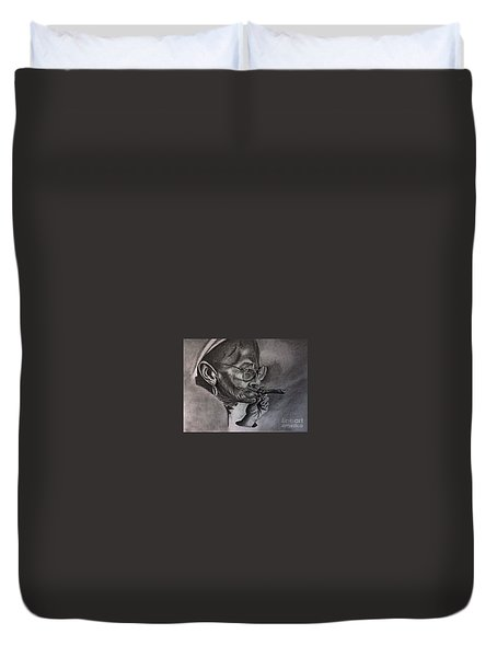 Cuban Old Lady Duvet Cover