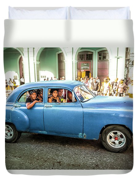 Cuban Taxi Duvet Cover