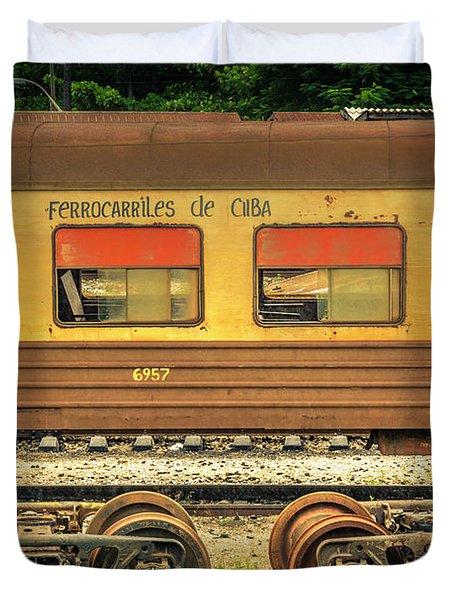 Cuban Train Duvet Cover