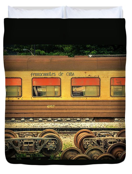Cuban Train Duvet Cover
