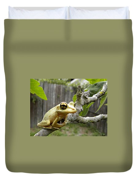 Cuban Tree Frog 001 Duvet Cover