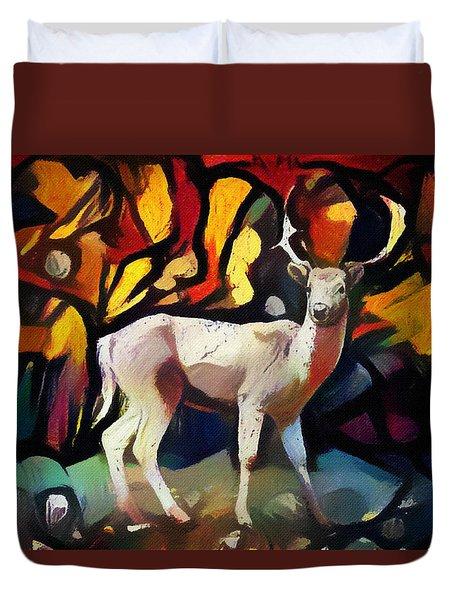 Cube Deer Duvet Cover