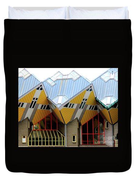 Cube Houses 1 Duvet Cover