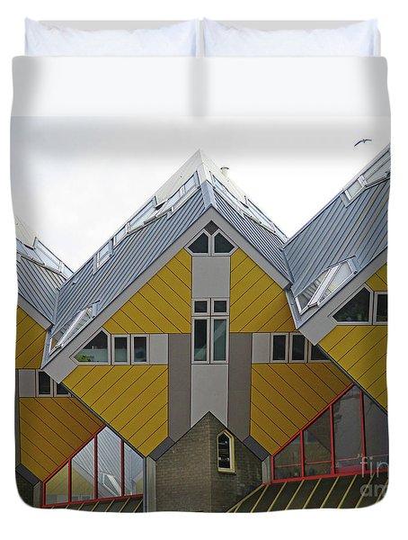 Cube Houses 11 Duvet Cover