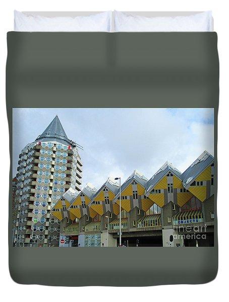 Cube Houses 12 Duvet Cover