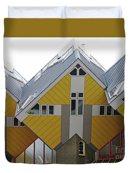 Cube Houses 13 Duvet Cover