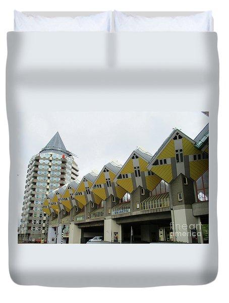 Cube Houses 15 Duvet Cover