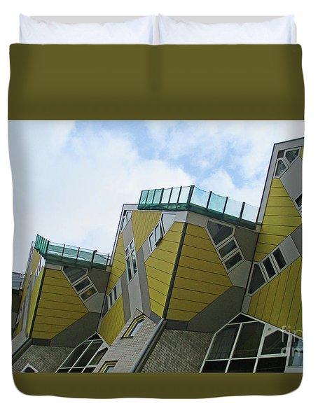 Cube Houses 16 Duvet Cover