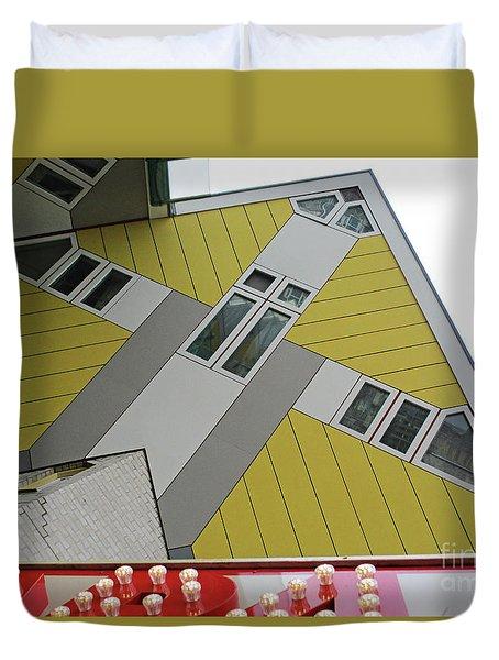 Cube Houses 17 Duvet Cover