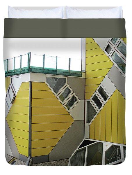 Cube Houses 18 Duvet Cover
