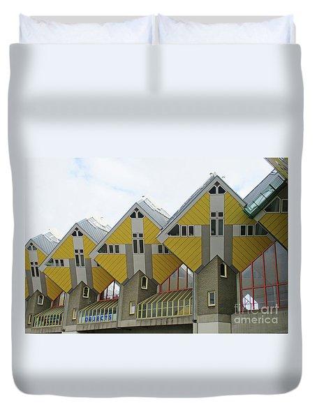 Cube Houses 19 Duvet Cover