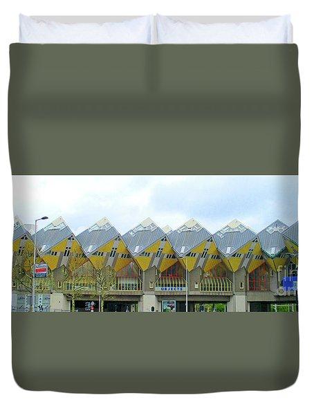 Cube Houses 2 Duvet Cover