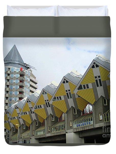 Cube Houses 20 Duvet Cover