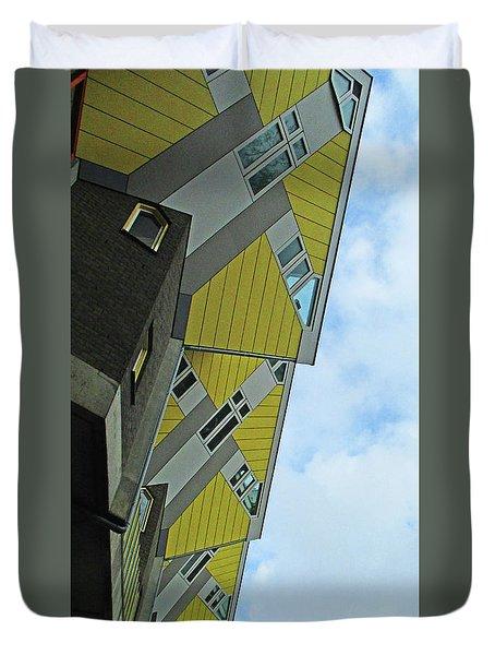 Cube Houses 21 Duvet Cover