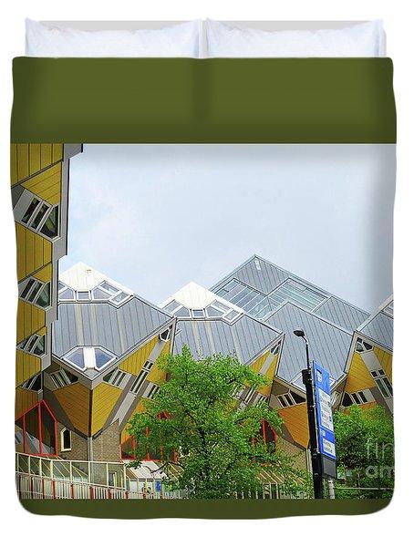 Cube Houses 22 Duvet Cover