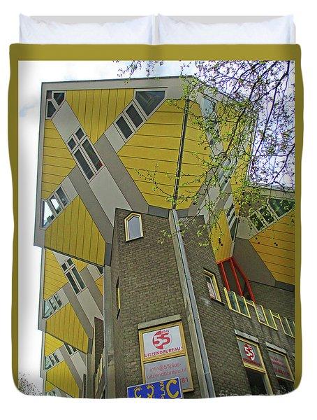 Cube Houses 23 Duvet Cover