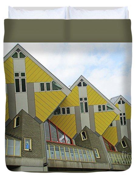 Cube Houses 24 Duvet Cover