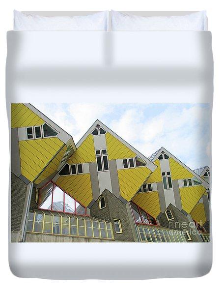 Cube Houses 25 Duvet Cover