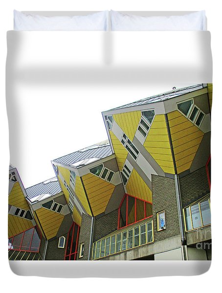 Cube Houses 26 Duvet Cover