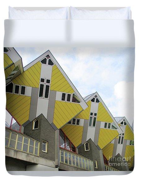 Cube Houses 27 Duvet Cover