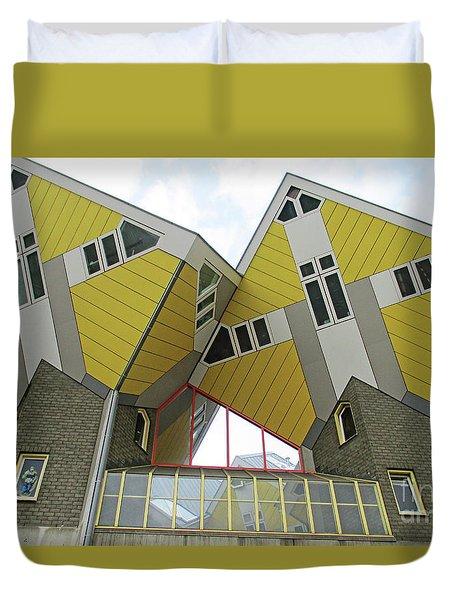 Cube Houses 28 Duvet Cover